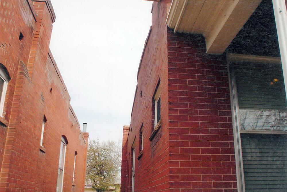exterior peripit wall bowed out needs repairing