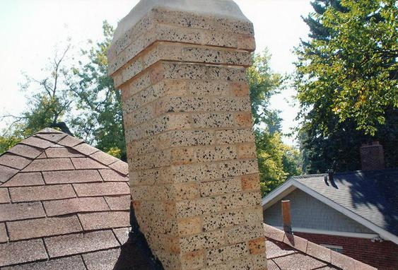 Grind Out All Mortar Joints, Tuck Point Chimney after_chimney_tuckpointing_work_is_done_11_jpg
