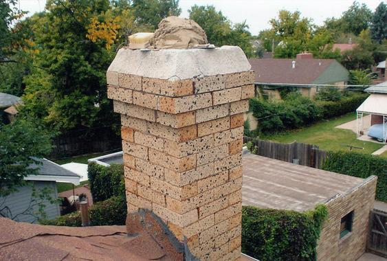 Grind Out All Mortar Joints, Tuck Point Chimney during_chimney_tuckpointing_11_jpg