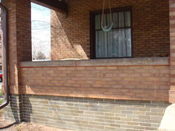 Rebuild Porch Wall, Re-lay Loose Bricks and Stone, Tuckpoint Deteriorating Mortar after_3_24_jpg