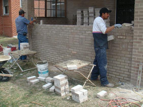 Rebuilding Bowed Out Front Porch Wall during_2_15_jpg