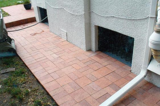 Re-lay Pavers Over Concrete Walkway after_pathway_is_built_3_jpg