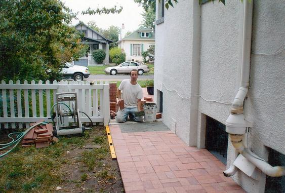 Re-lay Pavers Over Concrete Walkway during_brick_paver_laying_3_jpg