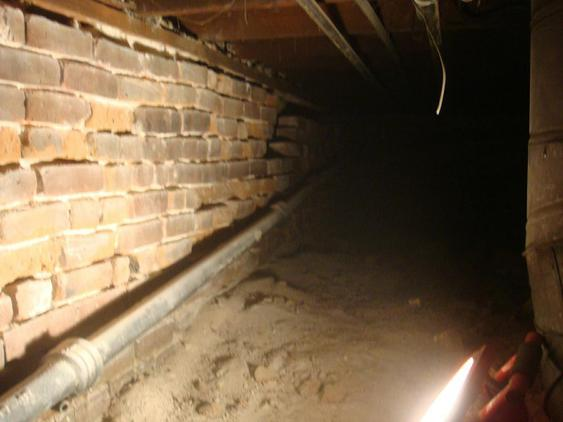 Tuckpoint All Joints on Foundation Wall in Crawlspace before_crawlspace_needs_tuckpointing_20_jpg